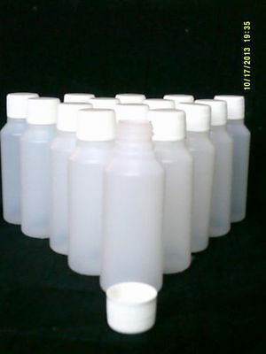 10 x 100 ml plastic clear bottles ideal for hobby / craft / travel / medicine