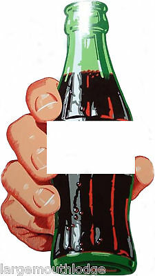 """CUSTOM SODA BOTTLE DECAL FOR LESS COLA IN HAND 6"""""""