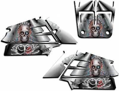 Yamaha Banshee Graphics Wrap Decal Sticker Kit Turbo Charged Shrouds White