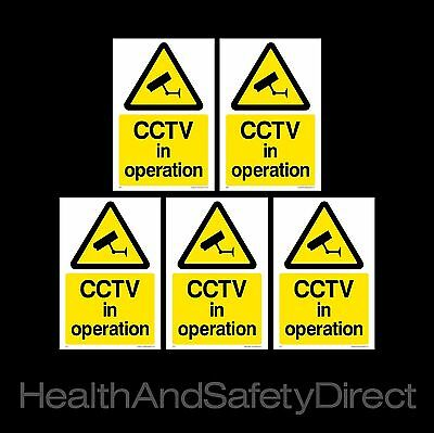 Cctv In Operation *pack Of 5* Security Window Stickers Free P+P (Misc11R)