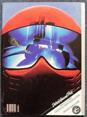 UNITED STATES GRAND PRIX FORMULA ONE 1982 F1 DETROIT Official Programme
