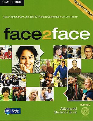 Cambridge FACE2FACE ADVANCED Second Edition 2013 STUDENT'S Book with DVD-ROM New