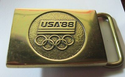 Vintage USA 88 Olympics 1988 Solid Brass Belt Buckle BTS Made In USA ✞