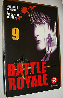 Rare> BATTLE ROYALE 9 (Taguchi /Takami ) Soleil Manga,Vends autres BATTLE ROYALE