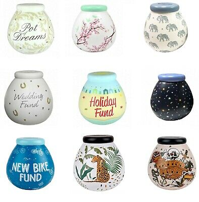 POT OF DREAMS CERAMIC MONEY BOX/ POT (Break To Open) - VARIOUS DESIGNS - NEW