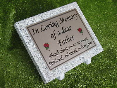 Personalised Medium Grey Granite Memorial Plaque Mam