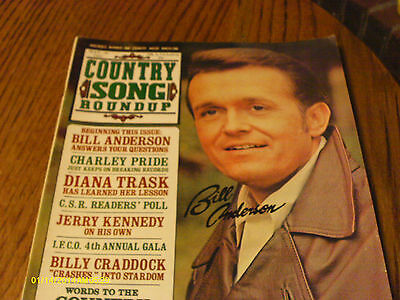 Bill Anderson Covers Country Song Roundup May 1972 Charley Pride