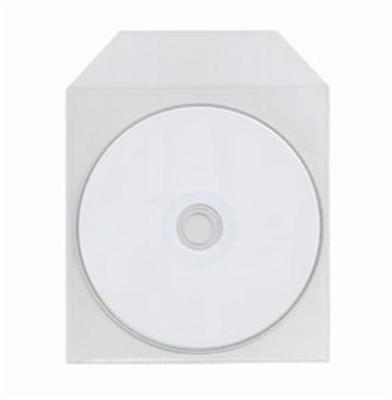 500 CPP CD DVD Disc Clear Plastic Sleeve Bag Envelope with Flap Thin 60 Microns