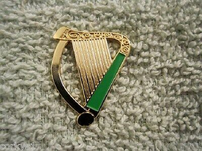 Irish Saint Patricks Day Harp Lapel Pin Ireland IRISH HARP  AOH LAOH