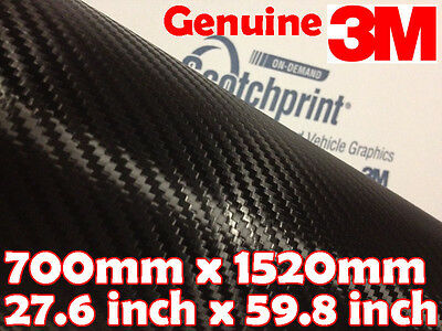 Genuine 3M Scotchprint 1080 Carbon Fibre CF12 【700mm x 1520mm】 BLACK Vinyl Wrap