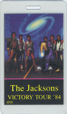 THE JACKSON'S 1984 LAMINATED BACKSTAGE PASS Promoter Michael Jackson