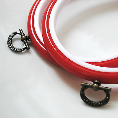 2 Round Flexi Hoops Embroidery Hoops 4 inch / 102mm