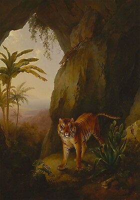 "Jacques-Laurent Agasse : ""Tiger in a Cave"" (1814) — Giclee Fine Art Print"