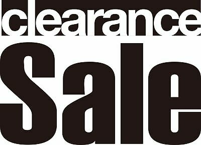 """""""Clearance Sale"""" Removable Shop Business Wall Window Sign Vinyl Stickers Decor"""