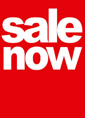 """""""Sale Now"""" Removable Shop Business Wall Window Sign Vinyl Stickers Decor Graphic"""