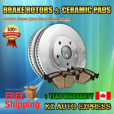 REAR LEFT & RIGHT DISC BRAKE ROTOR CERAMIC PADS FORD FUSION 2006 - 2011 31325