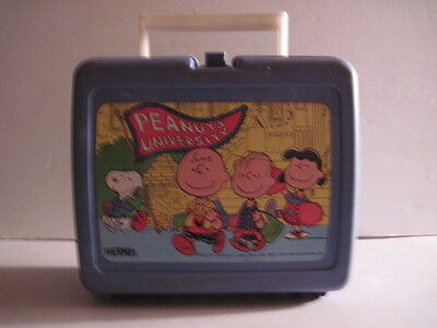 Peanuts University Lunchbox with Thermos! Charles Schulz