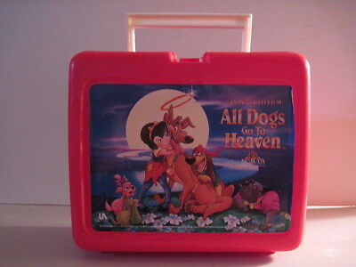 All Dogs Go To Heaven Plastic Lunchbox, No Thermos! (Used) MGM 1989