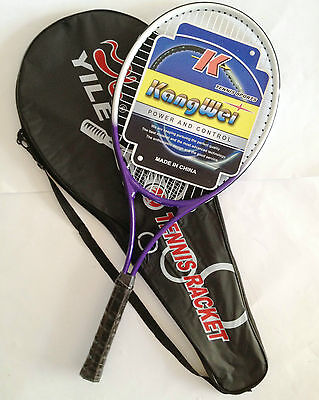 New Adult Alloy Tennis Racket Racquet & Cover Free Carry Bag