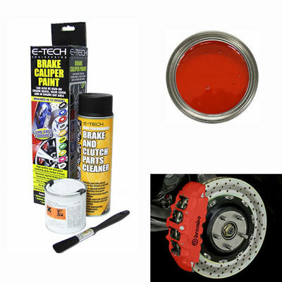 E-Tech Brake Caliper Paint Kit - Use On Drums, Hubs & Engine Bay - Red