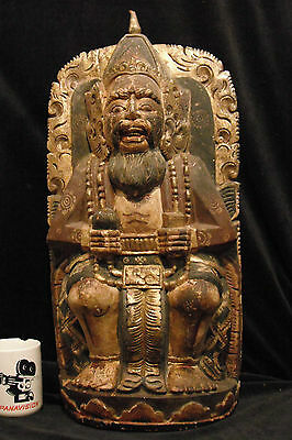 """Large Balinese King or Priest 23"""" (58 cm) Traditional Balinese Wood Carving"""