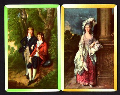 Vintage Swap/Playing Cards - Olde World Boy & Girl & Lady Pair