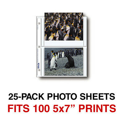 Print File 25 5x7 - 4 Archival Print Preservers Pages (HOLDS 100 5x7 PHOTOS)