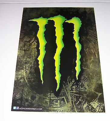 """Monster Energy Drink """"m"""" Claw Poster Skater Moto X  22"""" X 15 1/2"""" Brand New!"""