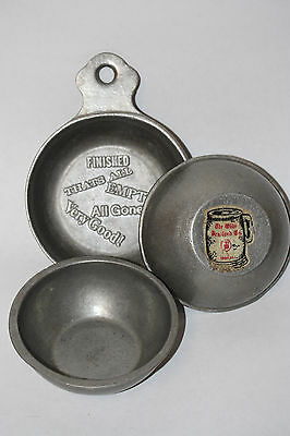 3 Antique / Vintage Pewter Bowls the Olde Bradford Troy, PA Barware Collectible