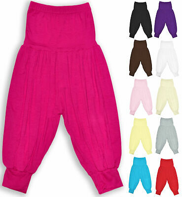 Girls Harem Trousers Kids Costume Dance Pants Ali Baba New Child Age 2-13 Years