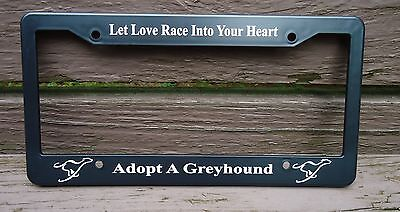 Greyhound License Plate Frame (Greyhound Adoption)