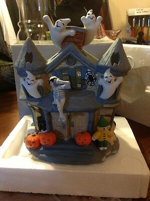 PartyLite Retired Halloween Haunted Tealight House Candle Holder P7311