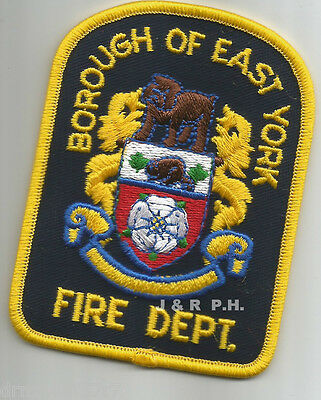 "Defunct - Borough of East York - Gold, Canada  (2.75"" x 3.75"" size)  fire patch"