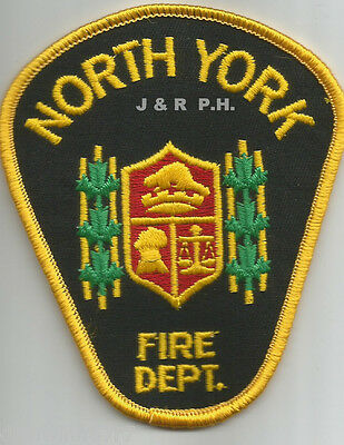 "Defunct - North York - Gold, Canada  (3.5"" x 4"" size)  fire patch"