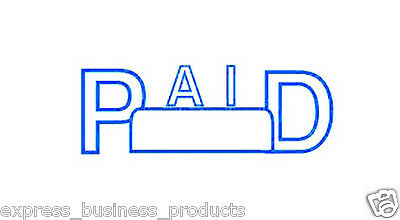 "Deskmate Pre Inked Office Stamp ""PAID"" Blue - JA0273610"