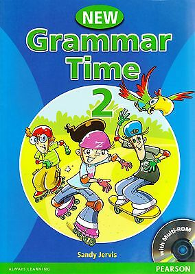 Pearson NEW GRAMMAR TIME 2 Student's Book with Multi-ROM by Sandy Jervis @New