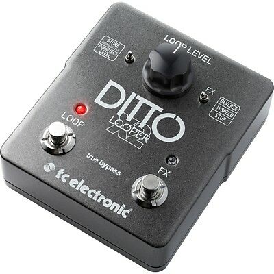 TC Electronic Ditto X2 Looper Sampler Guitar Effects FX Pedal Footswitch