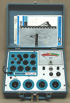 B&K Precision 606 Dyna-Jet Tube Tester  Instruction Manual & Schematic on CD