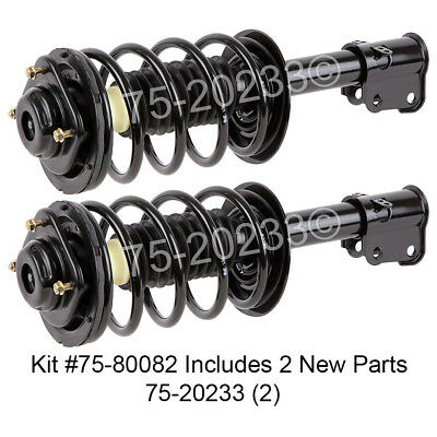 Pair New Complete Front Left & Right Strut Shock Coil Spring Assembly