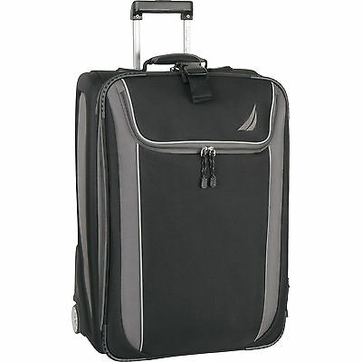 "NAUTICA SPINNAKER EXPANDABLE BLACK GRAY 21"" CARRYON  $300 NEW HOT!"
