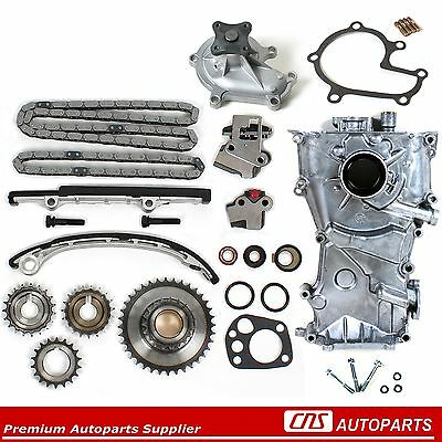 Fits 98-01 Nissan Altima 2.4L KA24DE Timing Cover Chain Kit, Water, & Oil Pump
