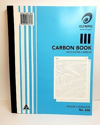 Olympic #606 Plain Carbon Book Duplicate - AO140853