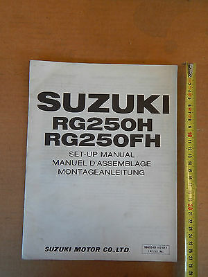 Manuale Di Assemblaggio Set-Up Suzuki Rg 250 H Fh Gamma Manual