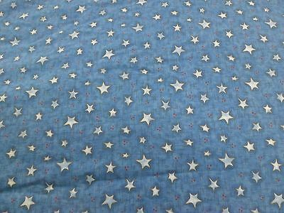 New  ** One**blue W/lite Blue Stars Crib/toddler  Fitted Sheet