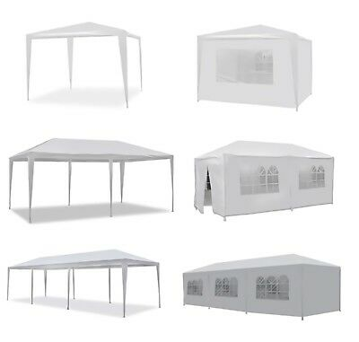 Outdoor Wedding Party Tent 10' 20' 30' Patio Gazebo Canopy Removable Walls White