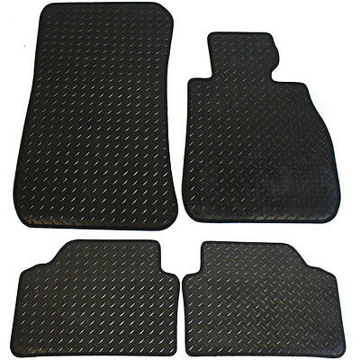 BMW E90/91 3 Series 2005-2012 Tailored 4 Piece Rubber Car Mat Set with Fixings