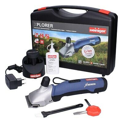 HEINIGER XPLORER HORSE CLIPPER - Cordless Battery Cattle Two Blades Charger