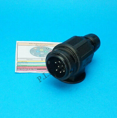 8 Pin Towing Plug for using with a 13 Pin Socket on new Trailers & Horse Box