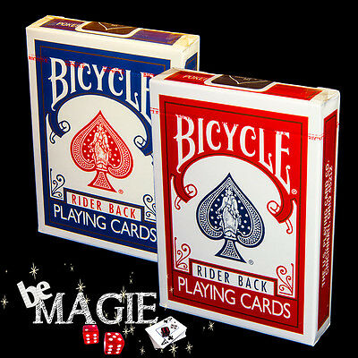 Lot de 2 jeux de cartes BICYCLE RIDER BACK - Dos Rouge et Bleu