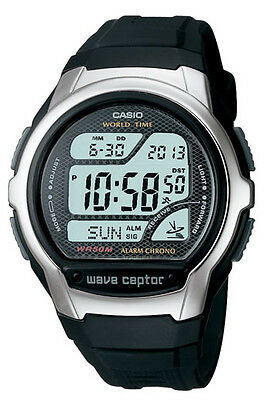 Casio WV58A-1A Men's Resin Band World Time Multi Band Atomic Watch